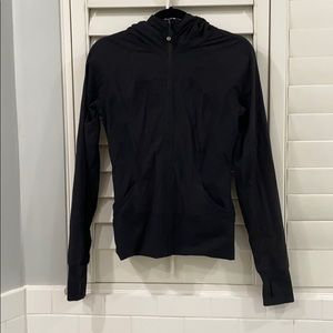 Lululemon black zip up long sleeve jacket
